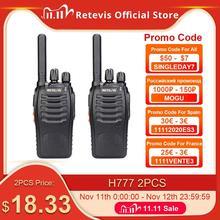 Retevis H777 Bộ Đàm 2 Cái Tiện Dụng 2 Chiều 3W 1 3Km Phạm Vi Sạc Máy Bộ đàm Comunicador Cho Săn Bắn/Cắm Trại