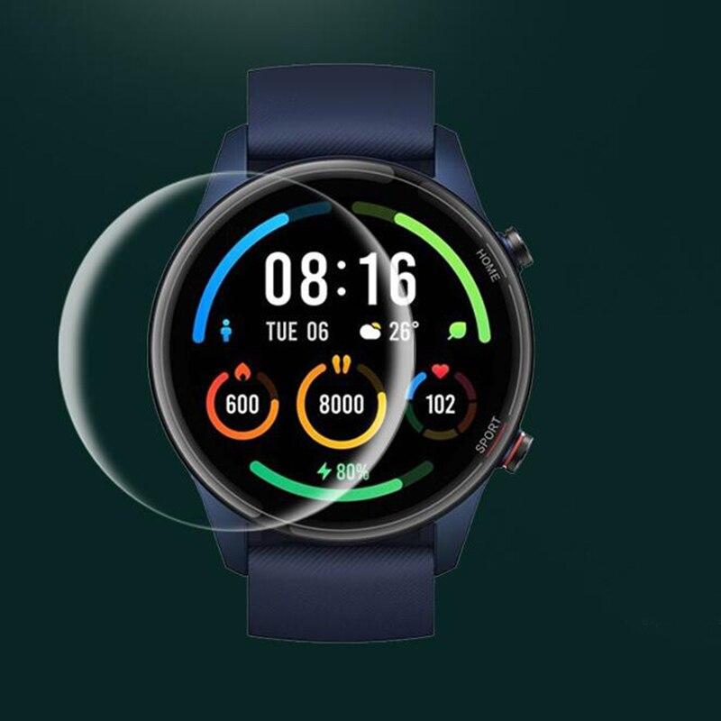 Мягкая прозрачная защитная пленка из ТПУ для смарт-часов Xiaomi Mi, 5 шт., цветная спортивная версия Смарт-часов, полноэкранная Защитная крышка