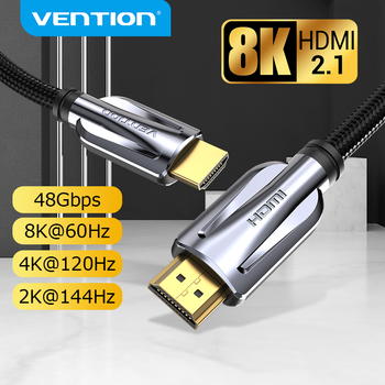 Vention HDMI 2.1 Cable 8K/60Hz 4K/120Hz 48Gbps HDMI Digital Cables HDMI 2.1 Cable Splitter for HDR10+ PS5 Switch Cable HDMI 2.1 1