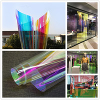 Sunice one way mirror Reflective Solar Film,Rainbow Privacy Self Adhesive Window Tint for Home Office Heat Control Xmas Decor