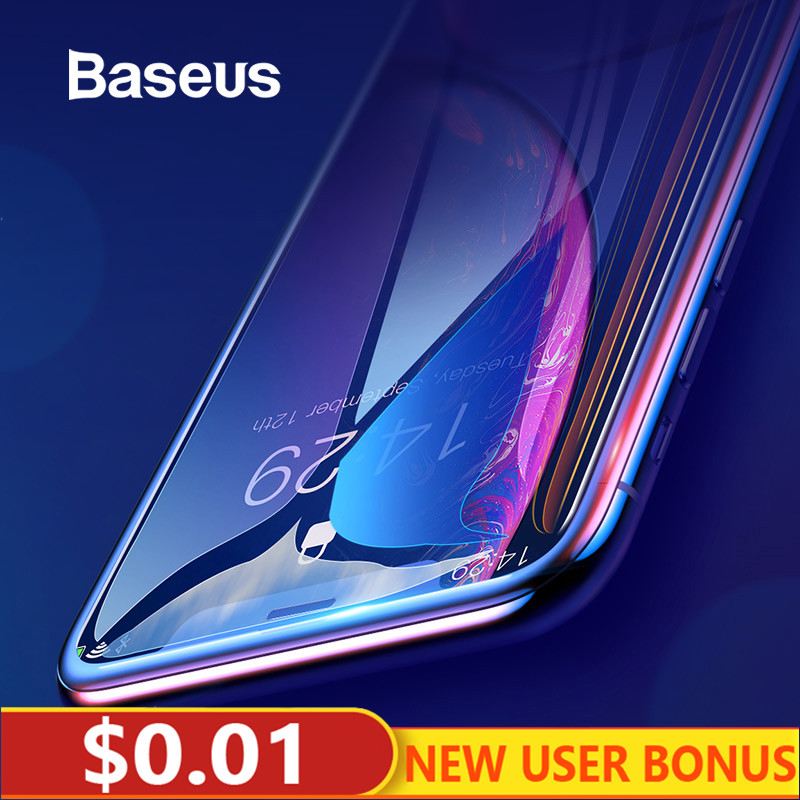 Baseus 0.3mm couverture complète verre trempé pour iPhone Xs Xs Max XR 2018 protecteur d'écran mince verre de protection pour iPhone X Xs XR