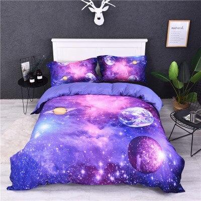BEST.WENSDB2 Quality Super Soft Unicorn Bedding Cartoon Duvet Cover Set 3D Dinosaur World Bed Set 2/3pcs Twin Kids Bedding Set