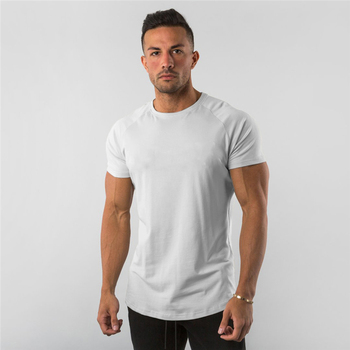 New Summer Sportswear Mens O-neck T Shirts Fashion Men's Tops Cotton Fitness T-shirt Gym Short Sleeve Bodybuilding Tshirt - discount item  34% OFF Tops & Tees