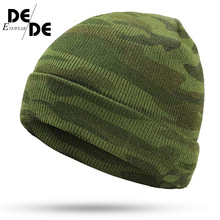Ms. warm new Gorros Touca camouflage outdoor green military uniform hat bone winter mens knit brand