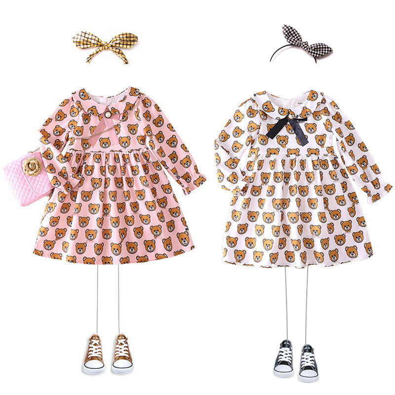 Baby Girls Dress lattice Cotton Long-Sleeve Princess Dress Kids Clothes Children Dresses For Toddler Christmas baby girl clothes