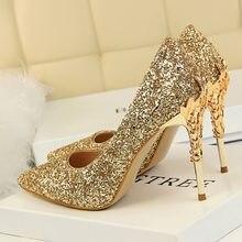 2020 autunno donna 9.5cm scarpe tacco alto estremo moda Bling paillettes elegante Fetish Escarpins Lady Sexy Prom abito da sposa scarpe