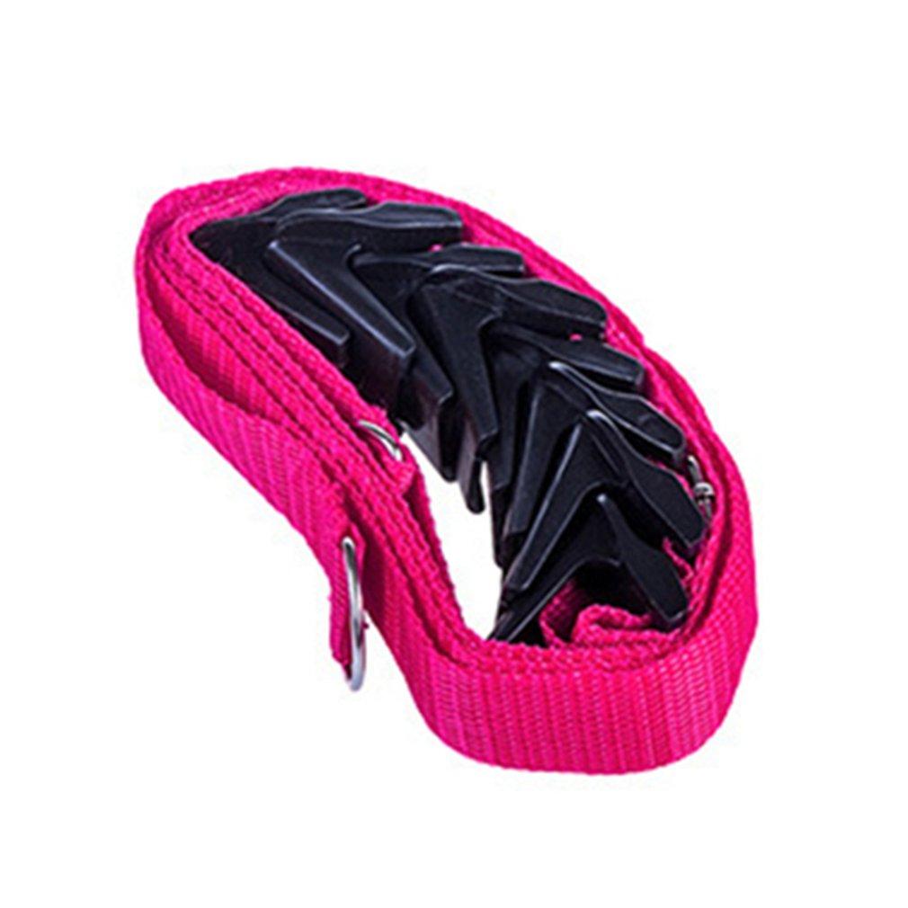 Регулируемая безгвоздная высокопрочная дверная задняя вешалка крюк вешалка для одежды двери многоцелевой крюк ремень ремешок - Цвет: rose red