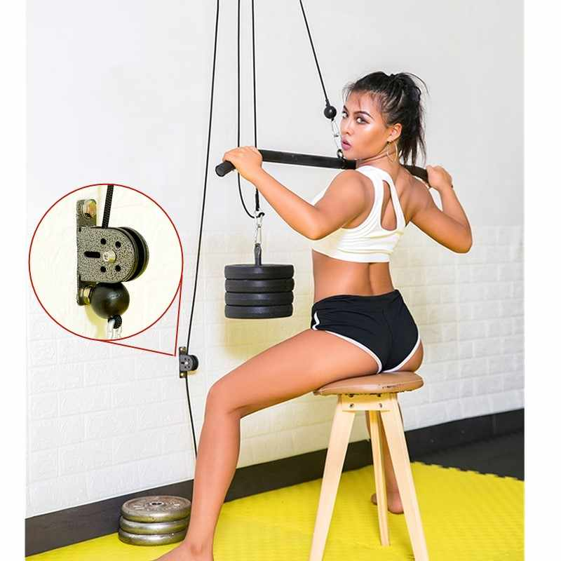 Fitness Rvs Lager Katrol Belasting Voor Lifting Workout Diy Apparatuur Gym Kabel Stille Wiel Home Gym Sport Accessoires