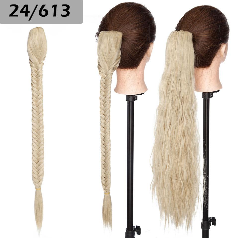 garra clip em trança rabo de cavalo hairpiece para mulher