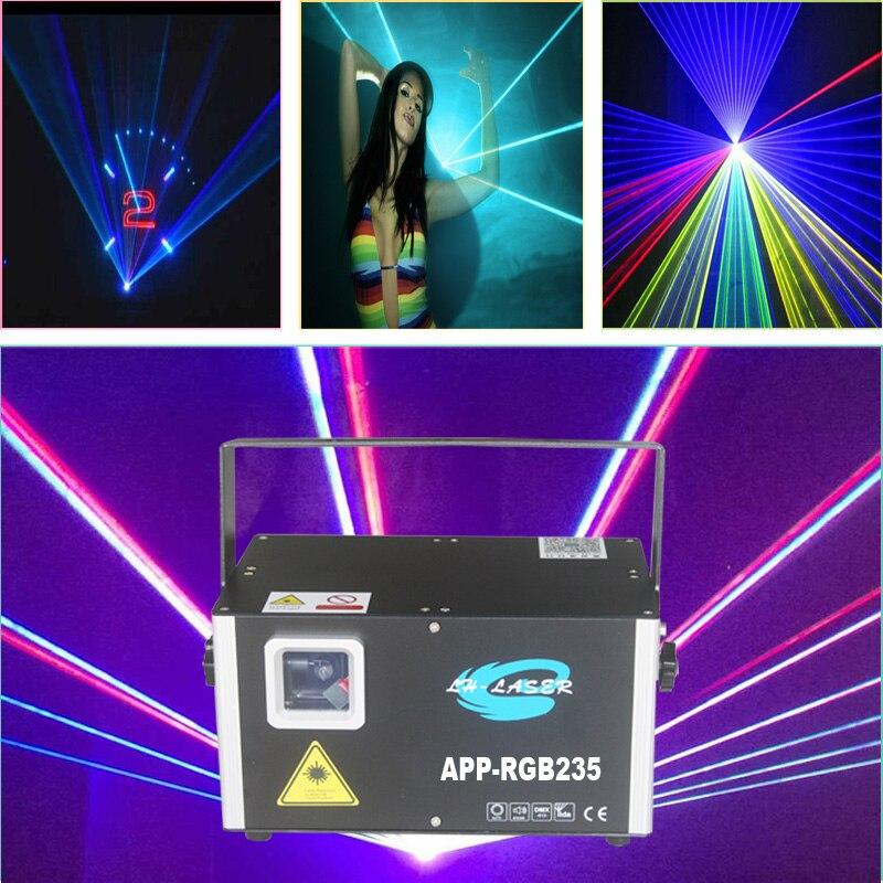 Free Shipping 5W RGB Animation Laser APP Bluetooth Edit Effect DMX Wedding Party Stage Lighting