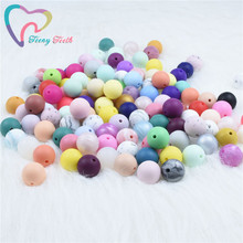 50 PCS Silicone Round Beads 12 MM Eco-friendly Sensory Teething Necklace Food Grade Mom Nursing DIY