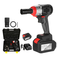 Impact-Wrench Torque Brushless-Motor Multifunction Cordless 980nm with Quick-Chuck 2x6.0a