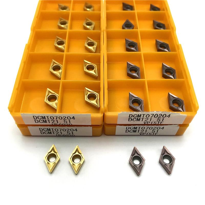 DCMT070204 VP15TF /UE6020/US735 резец для нарезания внутренней резьбы Металлический токарный инструмент высокого качества режущий инструмент DCMT 070204 реж...