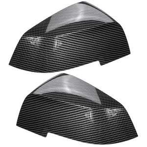 Image 2 - 1 Pair Black Carbon Wing Mirror Cover Cap For BMW 1 Series 2 Series 3 Series 4 Series F20 F21 F22 F30 F31 F32 F33 F35 F36 X3