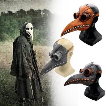 Steampunk Plague Doctor Mask Latex Bird Beak Doctor Mask Long Nose Masks Cosplay Costume Funny Face Wear Halloween Party Props halloween cosplay steampunk plague doctor mask bird beak props gothic masks