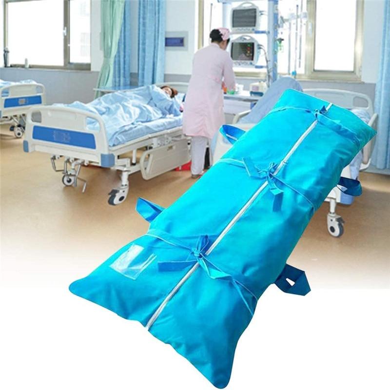 80x210cm Waterproof Filling Body Bag Dead Body Bag Hospital Morgue Transportation Dead Person Bag For Dead (Blue)