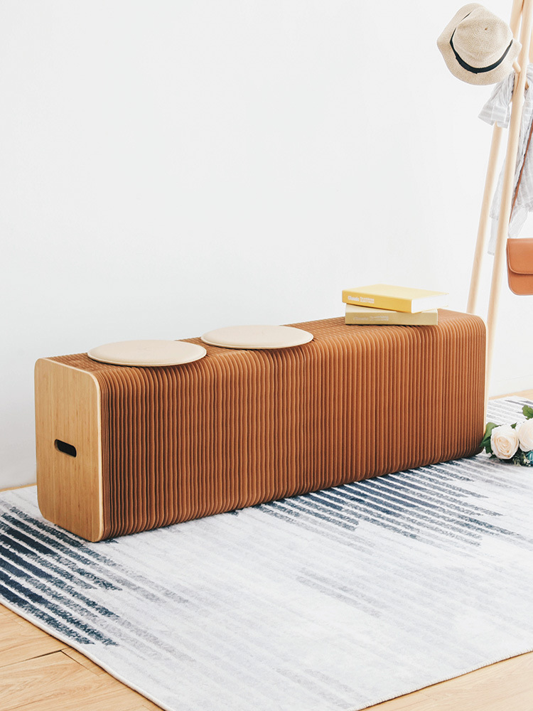 Folding Paper Table Stool Nordic Fashion Design Home Living Room Creative Furniture Multifunctional Long Stool