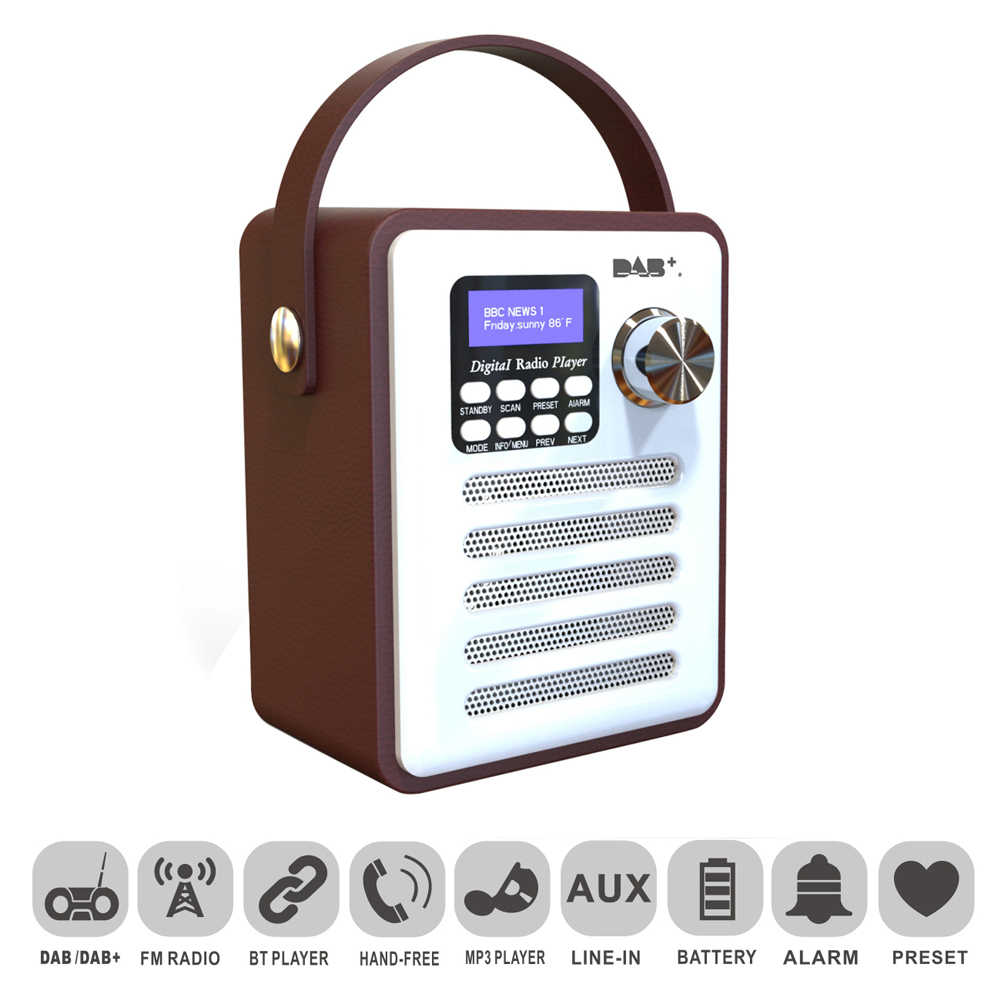 Bluetooth 4,2 Holz DAB-Radio Digital DAB/DAB + FM Wi-Fi Lautsprecher Bluetooth Wireless Radio FM/TF Karte/U Disk/Wecker Neue