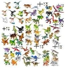 12pcs Jurassic Blocks World 2 MINI Dinosaur Figures Bricks Dino Toys For Children Dinosaurios Christmas