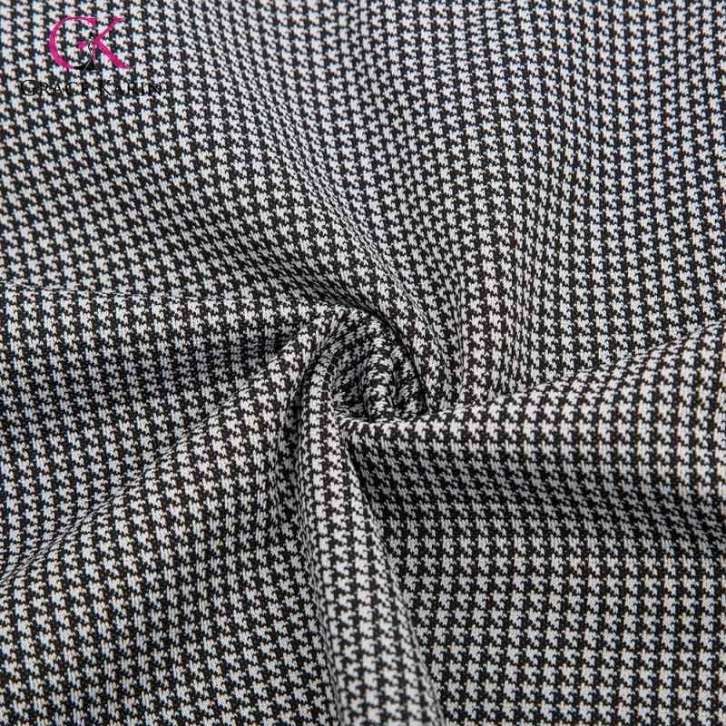 Grace Karin, новая мода 2019, юбка-карандаш с рисунком «гусиная лапка», Женская осенне-зимняя юбка с высокой талией для офиса, Женская облегающая юбка миди