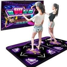 Двойной танцевальный коврик HD TV компьютерный интерфейс двойной толстый фруктовый диетический соматосенсорный PK танцевальное одеяло револ...