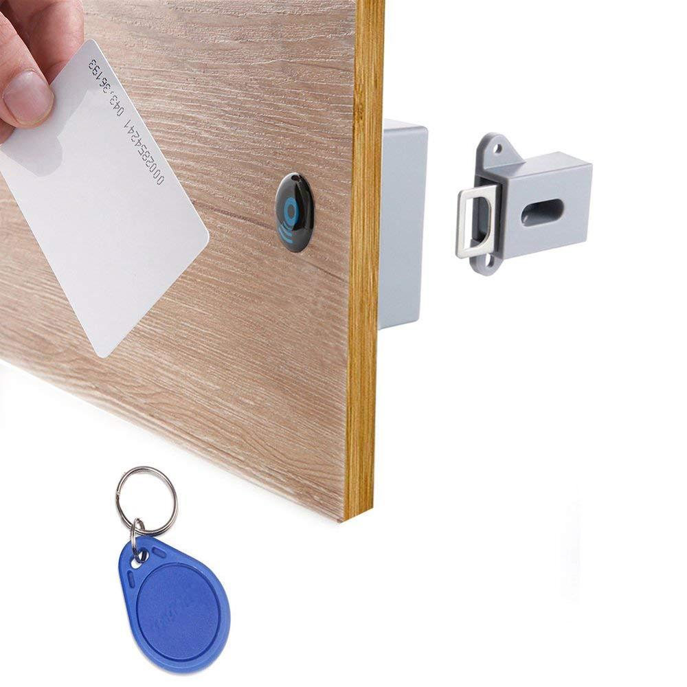 Invisible Hidden RFID  Cabinet Locks Invisible  RFID Lock Hidden Keyless Drawer Door Locks Sensor Locker Cabinet Locks Safety