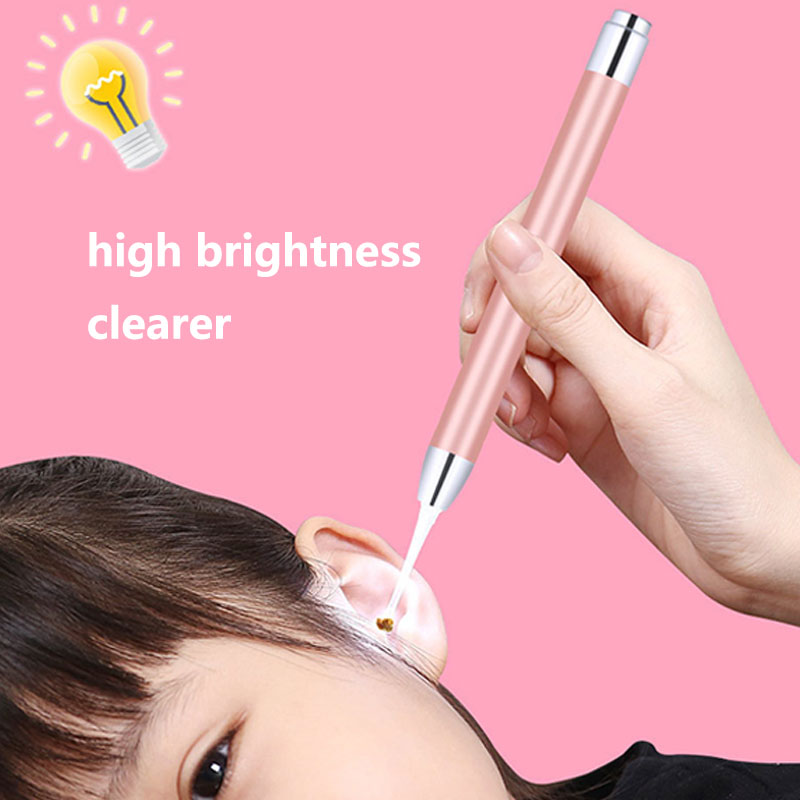 7pcs/set Stainless Steel Light Ear Spoon Baby Digging Ear Artifact With Light Visible Earpicking Tool #