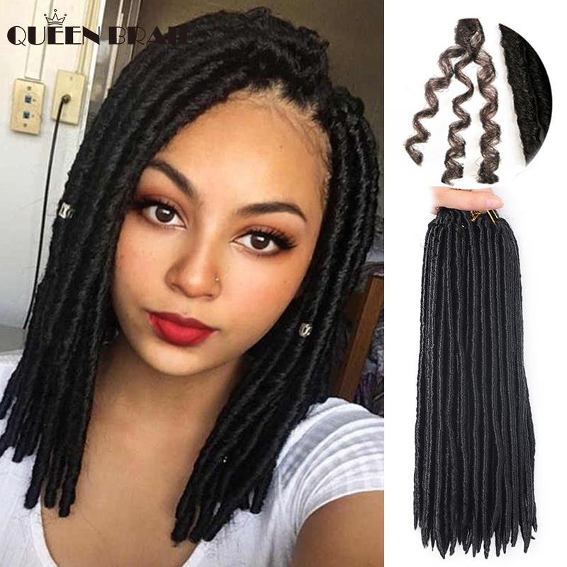 14inch 60g/pack Crochet Braids Synthetic Braiding Hair Extension Afro Hairstyles Soft Faux Locs Brown Black Thick Full