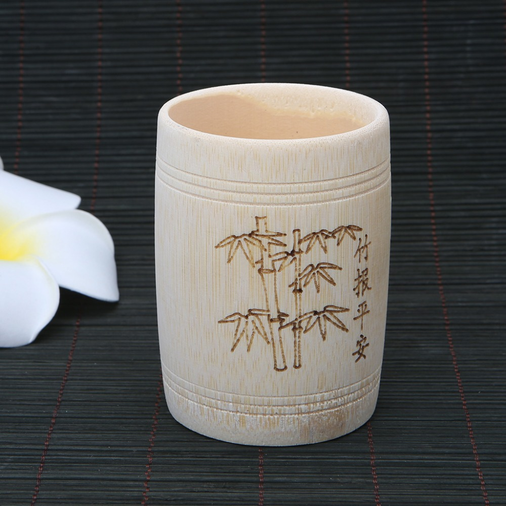 Traditional Chinese Natural Bamboo Cup Handmade Tea Cup For Tea Water Beer Coffee Juice Cups