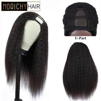 Morichy włosy naturalne falisty peruka z grzywką dla czarnych kobiet krótkie włosy ludzkie Bob peruka brazylijski nie Remy włosy peruki naturalny kolor tanie i dobre opinie Nie Remy Ludzki Włos Kinky prosto Średnia wielkość