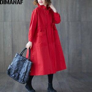 Image 3 - Dimanaf Vrouwen Jassen Plus Size Herfst Big Size Vest Vrouwelijke Losse Bovenkleding Lange Mouwen Pockets Rits Kleding 2021