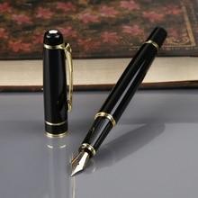 Hero 1501 Black With Golden Trim Standard F Nib Fountain Pen Gift dropshipping