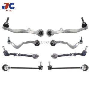 8PCS/SET Suspension Control Arm For BM W E63 E65 E66 Front Lower Aluminum Control Arm Ball Joint Tie Rod 31306781547