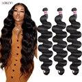 Длинные волнистые пучки Lolly 30 32 34 36 38 дюймов малазийские человеческие волосы пучки не Реми человеческие волосы волнистые для черных женщин