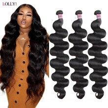 Lolly – tissage en lot brésilien naturel Body Wave, Extensions de cheveux vierges de 30 pouces à coudre