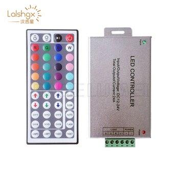 цена на DC12V - 24V 24A 44Key wireless IR Remote RGB LED Controller for SMD 5050 3528 2835 RGB led strip light tape ribbon