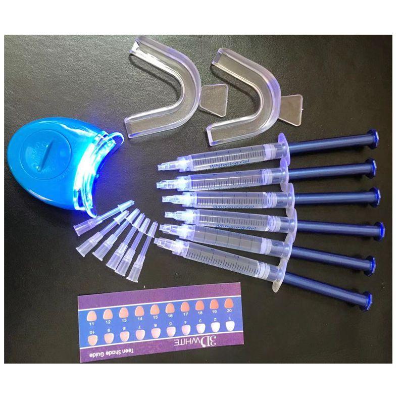 6/10PCS Peroxide Teeth Whitening Gel Kit New Cold Light Beauty Dental Equipment Bright White Smile Teeth Whitening Kit With LED
