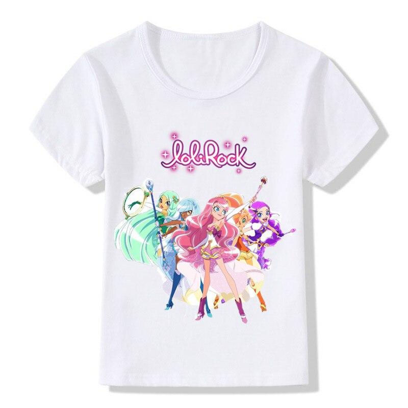H1c76e21e56d74f6bae5ad2bd71c11393Y Children LoliRock Magical Girl Funny T-shirt Boys Girls Anime Great s T shirt Kids Clothes