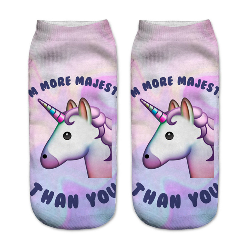 RUNNING-CHICK-pink-unicorn-3d-digital-print-girl-cotton-socks