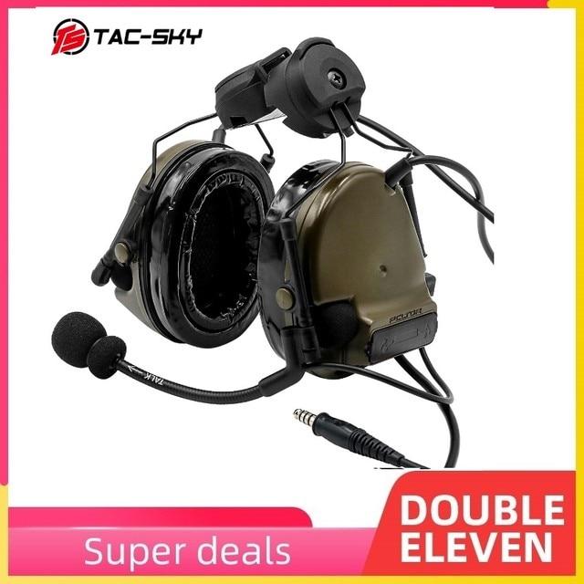COMTAC  TAC SKY  comtac iii helmet fast track bracket version silicone earmuffs noise reduction pickup tactical headset  FG