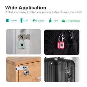 Image 5 - Towode zamek do drzwi z czytnikiem linii papilarnych torba na bagaż bezkluczowy zamek do drzwi USB akumulator zabezpieczenie przed kradzieżą kłódka na odcisk palca