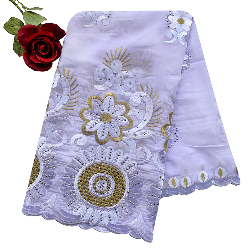 African Women Hijab Scarf,Hollow Cotton Embroidered Scarf,Shawl Comfortable Soft, 210 * 110 Cm EC188