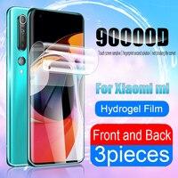 Pellicola salvaschermo per Xiaomi Poco M3 X3 NFC F1 F2 Pro per Mi Note 10 Pro A3 A2 A1 8 9 9T 10T Lite Mix 3 Hydrogel Front Back Film accessori del telefono mobile protezioni di schermo