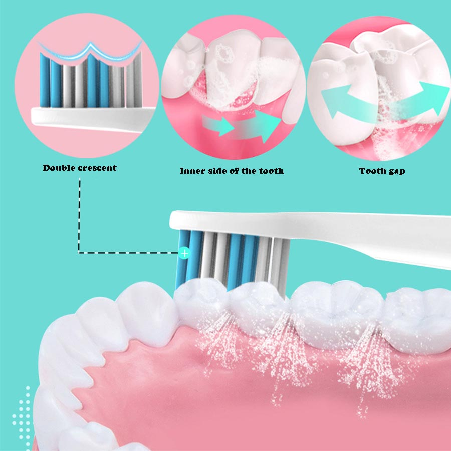 Adult and child electric toothbrush non-charging lazy toothbrush whitening and tooth care ultrasonic toothbrush head