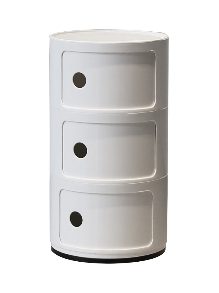 Northern Europe Three Layers More Function Plastic White Concise Originality Bedroom Accept Storage Bedside Cupboard Corner