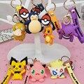 Новинка 2021, брелки для ключей с покемоном, фигурки героев мультфильмов, подвеска, аниме модель покромона, игрушки, подарки для девочек, Новог...