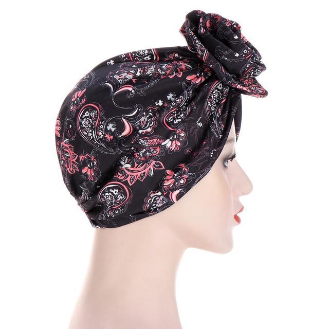 новый цветочный тюрбан шляпы для женщин химиотерапия рак головные фотография
