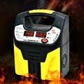 Portátil 12 v/24 v 15a dispositivo de carregamento do carro elétrico display lcd eightfold proteção segurança automático silencioso carregador de bateria de carro