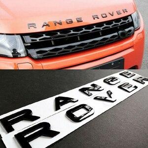 3D Letters ABS Front Hood Emblem Range Rover Hood Letters Stickers for Land Rover Range Rover(China)