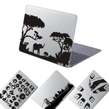 Winylowa naklejka na notebooka Apple Macbook naklejka Air Retina Pro 11 13 15 czarna naklejka na laptopa
